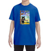 Black Bear Cub Youth T-Shirt on Royal Blue
