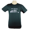 Dog Walker design on Men's Slim Fit Organic t-shirt in Charcoal