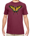 Tiger Swallowtail Butterfly Maroon T Shirt