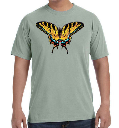 Tiger Swallowtail Butterfly Sage Green T Shirt