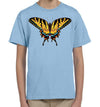 Tiger Swallowtail Butterfly Light Blue Kids Youth T Shirt