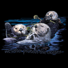 A closeup of the design for our Sea Otters environmental wildlife shirt