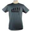 Watch Where You're Going on Men's Slim Fit Organic t-shirt in Charcoal