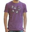 Chickadees T Shirt Birds Birdwatching in Purple Organic Cotton