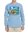 Cloud Watching Long sleeve t-Shirt heavyweight Light Blue