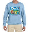 Cloud Watching Vintage Heavyweight Sweatshirt Light Blue
