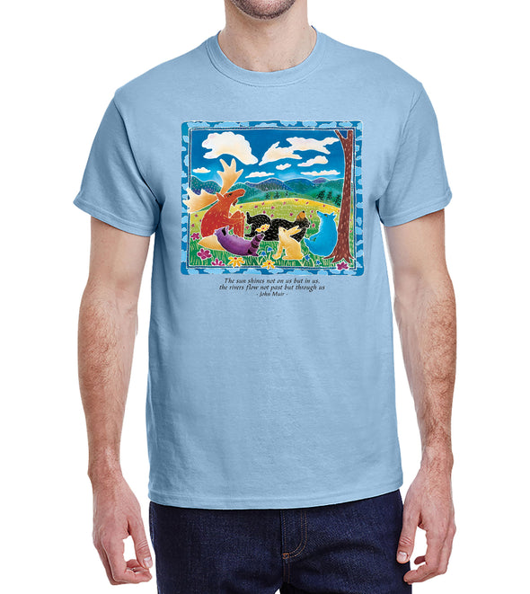 Cloud Watching Unisex T-Shirt Light Blue