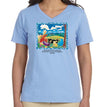 Cloud Watching Women's V-Neck T-Shirt Light Blue