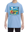 Cloud Watching Youth T-Shirt Light Blue