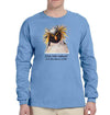 Dive Into Nature Penguin Heavyweight Long Sleeve T-Shirt in Carolina Blue