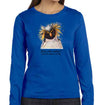 Dive Into Nature Penguin Women's Long Sleeve in Royal Blue