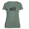 Watch Where You're Going on Women's Soft Slim Fit Organic t-shirt in Blue Sage