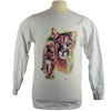 Cougar design on Men's Longsleeve shirt in Ash Grey