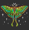 Moon Luna Moth T-Shirt by Craig Blackhill