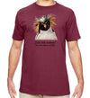 Dive Into Nature Penguin Organic T-Shirt in Maroon