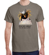 Dive Into Nature Penguin Heavyweight T-Shirt in Tan Brown