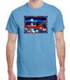 Red Canoe on Carolina Blue Organic T-Shirt