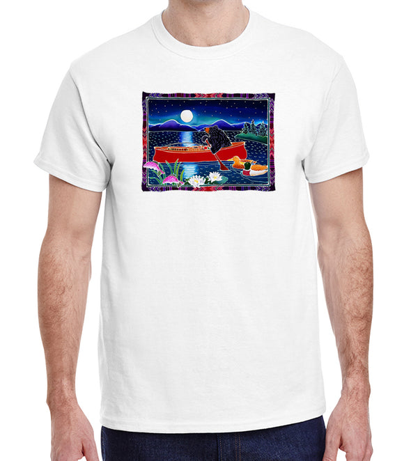 Red Canoe on White Heavyweight T-Shirt