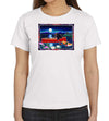 Red Canoe on White Women's T-Shirt