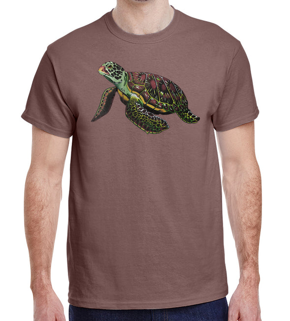 Sea Turtle Heavyweight T-Shirt on Tan