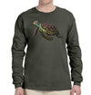 Sea Turtle Long Sleeve Heavyweight T-Shirt in Dark Green