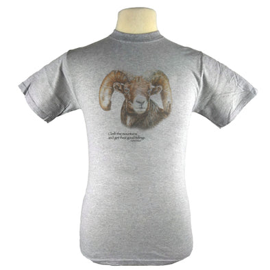 Big Horn Sheep T Shirt with John Muir Quote