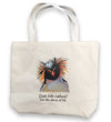 Dive Into Nature Penguin Organic Tote Bag in Natural