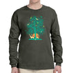 Tree of Life Long Sleeve Heavyweight T-Shirt in Dark Green