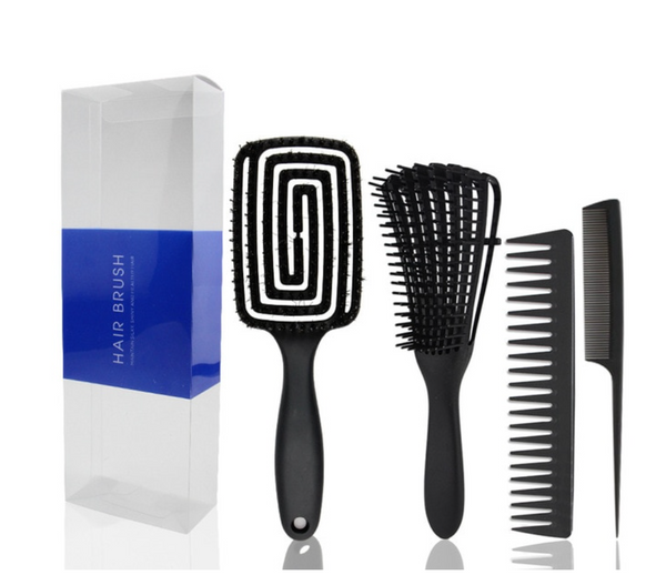 Detangling Hair Brush & Comb Set