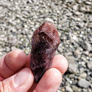 Red Amethyst Small Point From Brazil #2