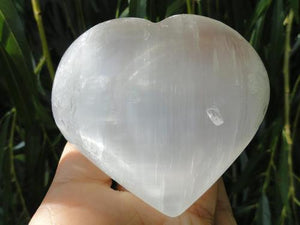 Selenite Heart - Earth Family Crystals