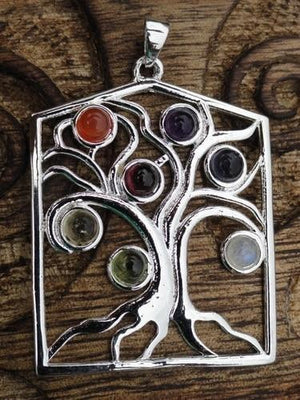 Tree of Life Pendant - Earth Family Crystals