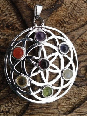 Mandala Pendant - Earth Family Crystals