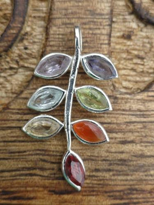 Leaf Pendant - Earth Family Crystals