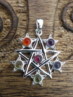 Universal Planet Star Pendant - Earth Family Crystals