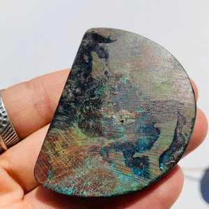 Chunky Shattuckite Cabochon Partially Polished~Ideal for Crafting