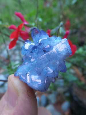 Super Stunning Sparkle Tanzan Aura Quartz Cluster - Earth Family Crystals