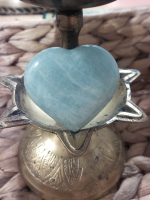 Soothing Soft Blue Amazonite Heart Carving - Earth Family Crystals