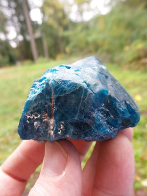 Chunky Raw Blue Apatite Specimen From Brazil - Earth Family Crystals
