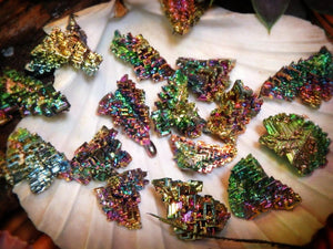 Mini Rainbow Bismuth Specimen From Germany - Earth Family Crystals