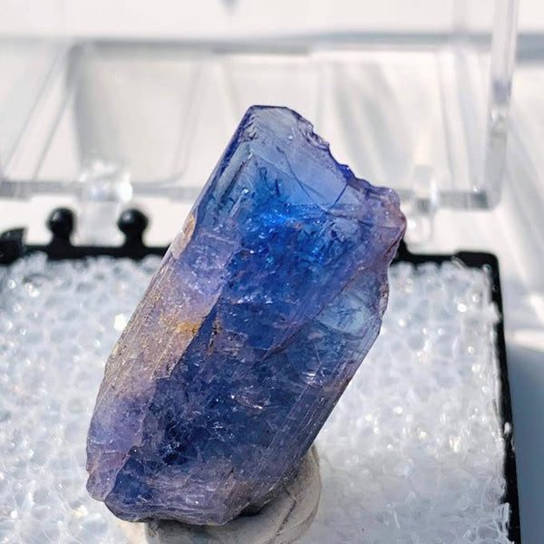 18CT High Grade Terminated Gemmy Tanzanite Specimen in Collectors Box #4 - Earth Family Crystals