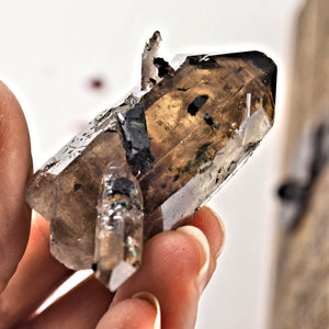 Incredibly Beautiful Natural Smoky Quartz & Aegirine Point From South Africa