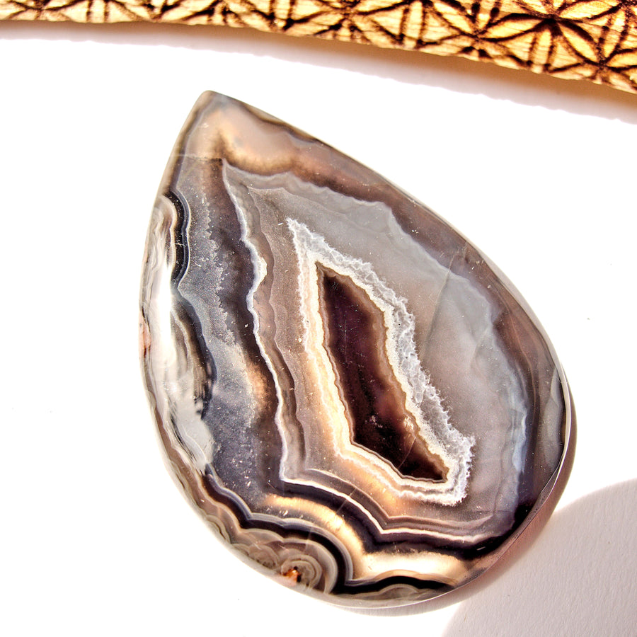 Fabulous Patterns Agate Cabochon Ideal for Crafting