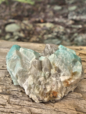 Soft Blue Amazonite & Quartz Natural Specimen 1