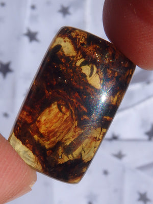 Beautiful Golden Amber Cabochon From Mexico~Ideal For Jewellery Making 4