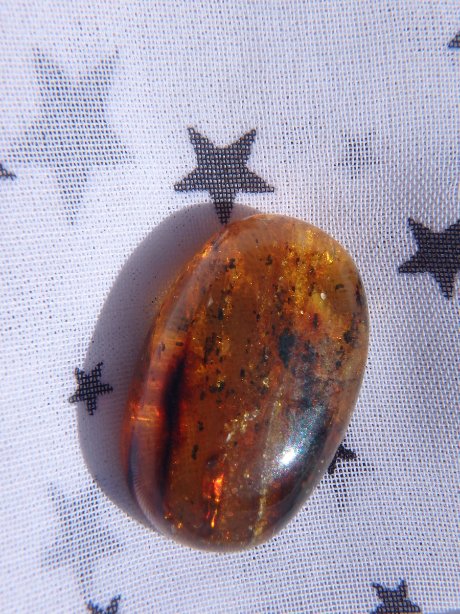 Beautiful Golden Amber Cabochon From Mexico~Ideal For Jewellery Making 2