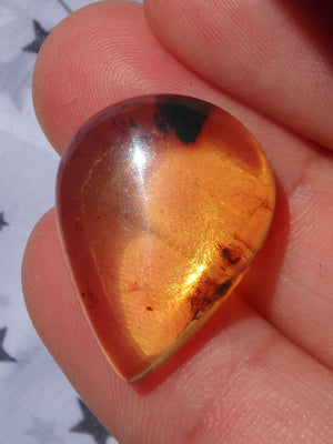 Beautiful Golden Amber Cabochon From Mexico~Ideal For Jewellery Making 7