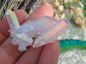 Angel Aura Quartz Cluster 8 - Earth Family Crystals