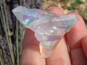 Angel Aura Quartz Cluster 4 - Earth Family Crystals