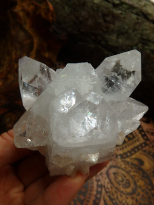 Large Points of Clear Apophyllite & Stilbite Inclusions From India - Earth Family Crystals